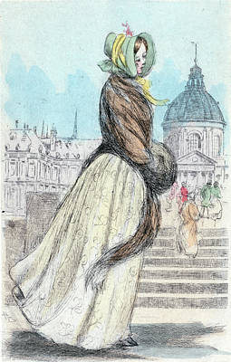 1842, Womens Fashion In Nineteenth-century Paris Art Print
