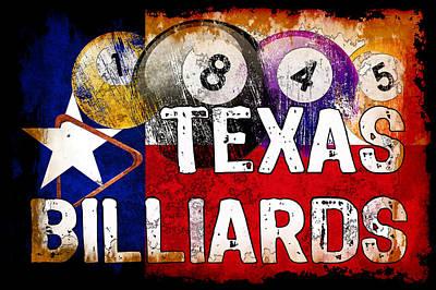 Rail Digital Art - 1845 Texas Billiards by David G Paul