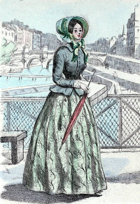 Belle Epoque Drawing - 1846, Womens Fashion In Nineteenth-century Paris by Artokoloro