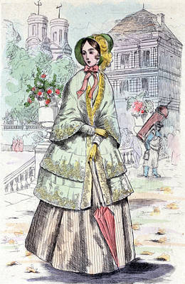 1848, Womens Fashion In Nineteenth-century Paris Art Print by Artokoloro