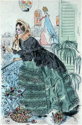 1859, Womens Fashion In Nineteenth-century Paris Art Print
