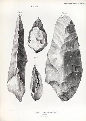Handaxe Photograph - 1860 Flint Handaxe From Prestwich Article by Paul D Stewart