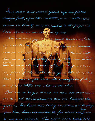 Daniel Painting - 1860s Abraham Lincoln Statue by Vintage Images