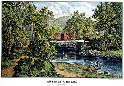 Serenity Scenes Painting - 1860s Artists Creek - North Conway Nh by Vintage Images