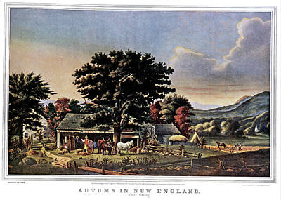 Print Making Painting - 1860s Autumn In New England - Cider by Vintage Images