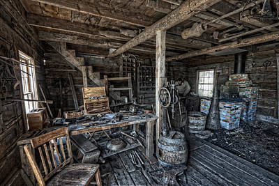 1860's Blacksmith Shop - Nevada City Ghost Town - Montana Art Print by Daniel Hagerman