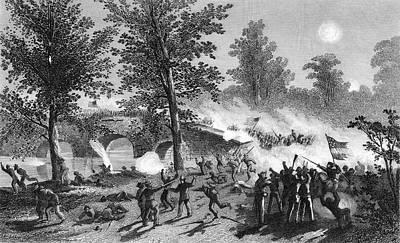 Antietam Painting - 1860s Burnsides Passage Of The Bridge by Vintage Images