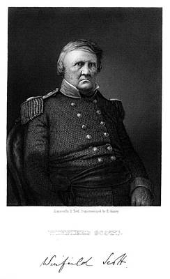 War Of 1812 Painting - 1860s General Winfield Scott Served War by Vintage Images