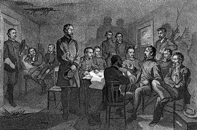 July Painting - 1860s July 1863 General Meade Meeting by Vintage Images
