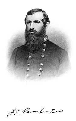 1860s Portrait Confederate General John Art Print