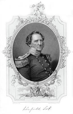 War Of 1812 Painting - 1860s Portrait Winfield Scott Late by Vintage Images