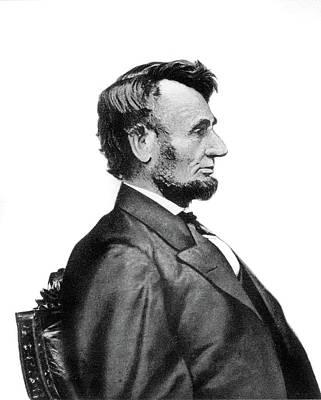 1860s Profile Portrait President Art Print