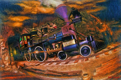 Photograph - 1862 Gov. Stanford First Locomotive by Blake Richards