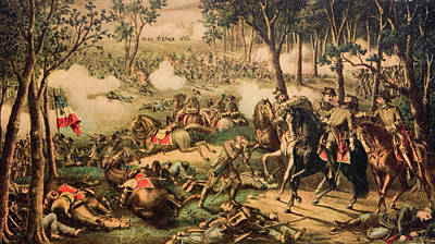Sadness Painting - 1863 Battle Of Chancellorsville By Kurz by Vintage Images