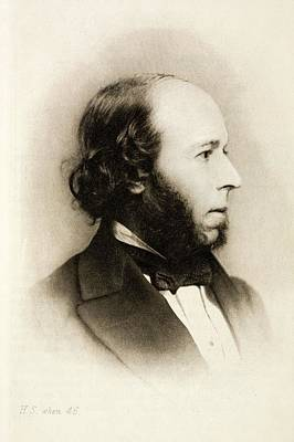 Social Darwinism Photograph - 1866 Herbert Spencer Philosopher Darwin by Paul D Stewart