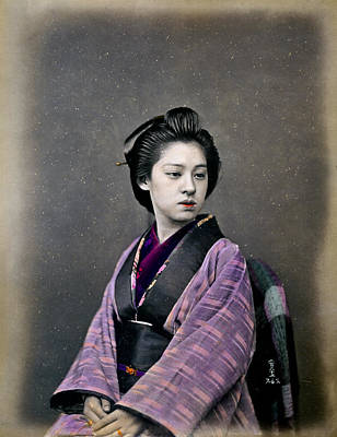 Photograph - 1870 Beautiful Japanese Woman by Historic Image