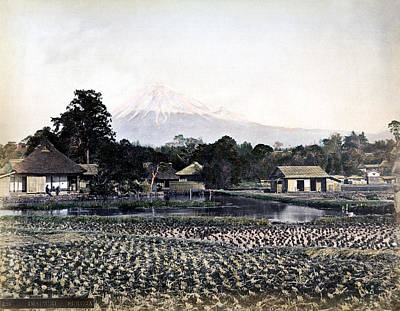 Photograph - 1870 Japanese Village In Suruga Province by Historic Image