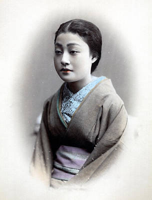 Photograph - 1870 Portrait Of A Beautiful Japanese Woman by Historic Image
