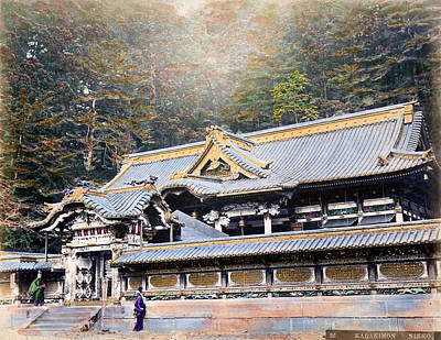 Photograph - 1870 Toshogu Shrine Of Nikko Japan by Historic Image