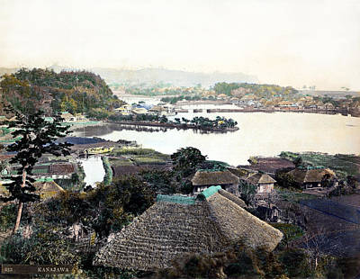 Photograph - 1870 Village In Kanagawa Japan by Historic Image