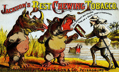 Painting - 1871 Vintage Chewing Tobacco Ad by Historic Image
