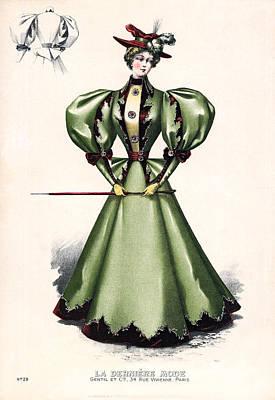 1876 Fashion Model Art Print by Underwood Archives