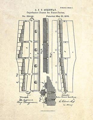 1878 Steinway Capodastro Frame Patent Art Art Print