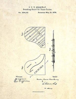 1878 Steinway Piano Forte Sounding Board Patent Art Art Print