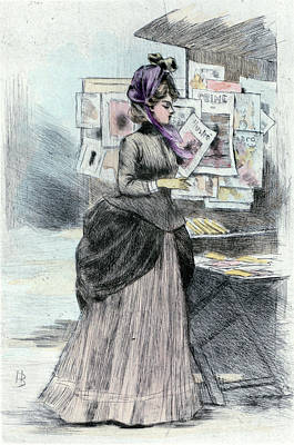 1879, Womens Fashion In Nineteenth-century Paris Art Print