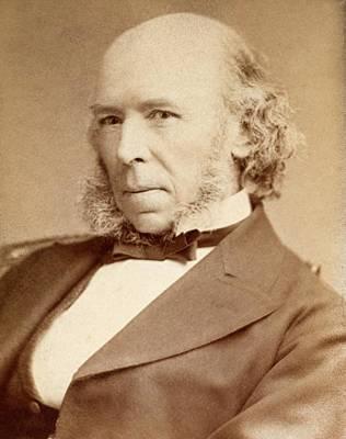 Philosopher Photograph - 1880 H. Spencer Philosopher Evolution by Paul D Stewart