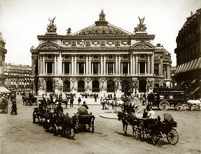 Photograph - 1880 Paris Opera House by Historic Image