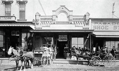 Storefront Photograph - 1880s 1885 Men Standing Next To Horse by Vintage Images