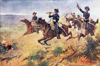 1880s Painting - 1880s 1890s Scene Of American West by Vintage Images