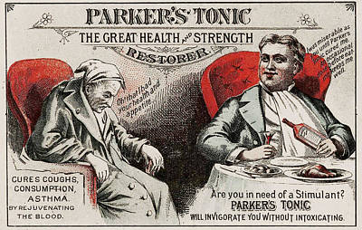 1880s Photograph - 1880s Usa Parkers Tonic Magazine Advert by The Advertising Archives