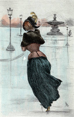 1884, Womens Fashion In Nineteenth-century Paris Art Print by Artokoloro