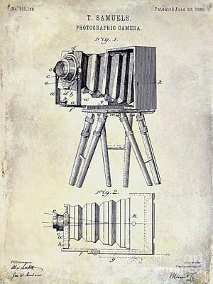 1885 Camera Patent Drawing  Art Print by Jon Neidert