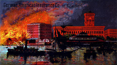 Painting - 1885 German American Insurance Of New York by Historic Image