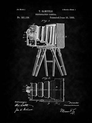 Digital Art - 1885 View Camera Patent Art-bk by Barry Jones