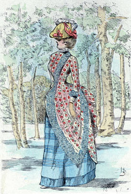 1885, Womens Fashion In Nineteenth-century Paris Art Print