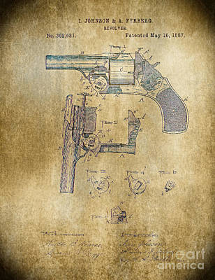 Photograph - 1887 Revolver by Steven Parker