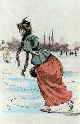 1887, Womens Fashion In Nineteenth-century Paris Art Print