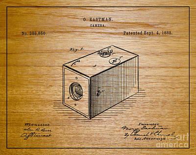 Movie Still Frames Drawing - 1888 Eastman Camera Patent Art 1 by Nishanth Gopinathan