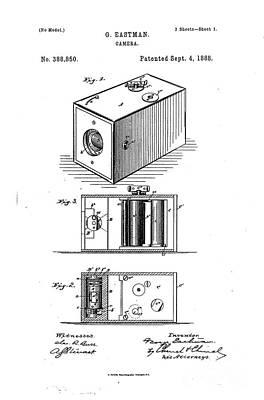 Movie Still Frames Drawing - 1888 Eastman Camera Patent Art 2 by Nishanth Gopinathan