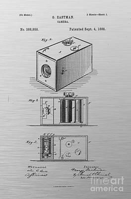 Movie Still Frames Drawing - 1888 Eastman Camera Patent Art 4 by Nishanth Gopinathan