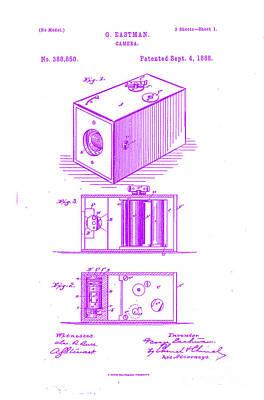 Movie Still Frames Drawing - 1888 Eastman Camera Patent Art 5 by Nishanth Gopinathan