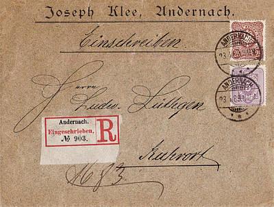 1889 - Old Letter Original Original