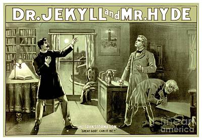 Digital Art - 1890 - Dr Jekyll And Mr Hyde Production Poster by John Madison
