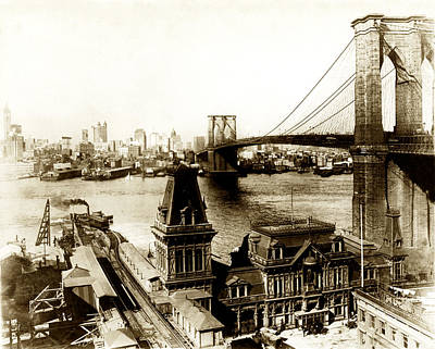 Photograph - 1890 Brooklyn New York by Historic Image