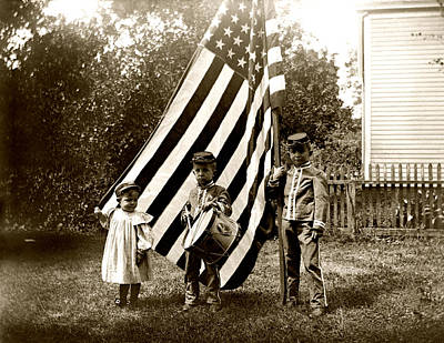 Photograph - 1890 The Young Patriots by Historic Image