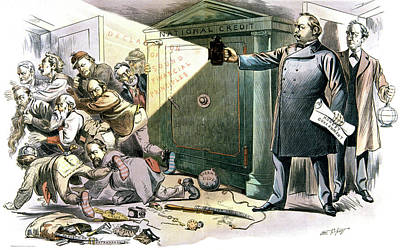Federal Government Painting - 1890s 1893 Puck Cartoon Shows President by Vintage Images